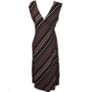 The Limited Stripe Maxi True Wrap Tie Dress S